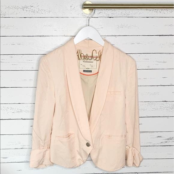 Anthropologie Jackets & Blazers - Anthropologie Cartonnier Miette Light Peach Blazer
